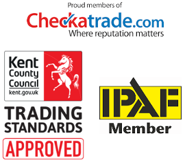 Gutter cleaning accreditations, checktrade, Trusted Trader, IPAF in Sevenoaks